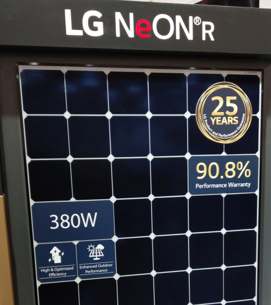 LG Neon R 380W panels coming in 2020