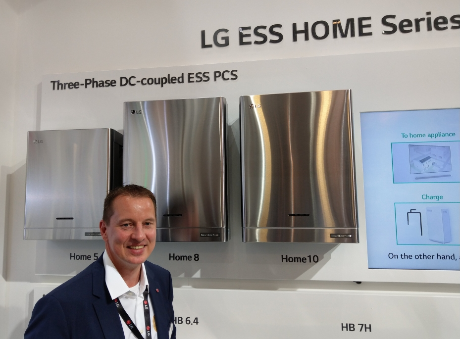 LG three phase DC coupled ESS options on show at InterSolar 2019