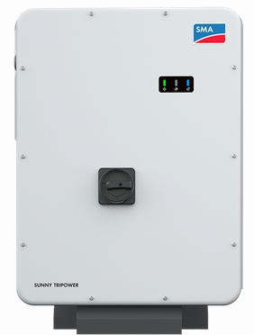 The unique 50kW SMA Core 1 free standing commercial inverter featuring 6 x MPPT's