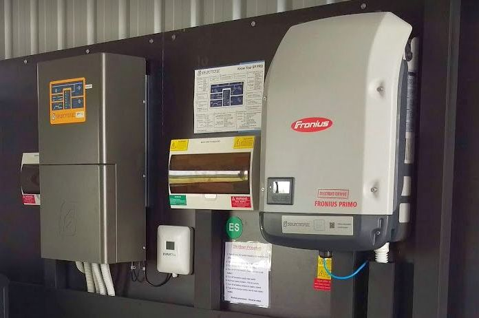 Fronius Primo solar inverter AC coupled with the popular  Selectronic SP PRO  off-grid inverter/charger