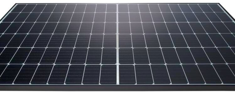 The Hanwha Q Cells Q.Peak Duo G5 panel uses half cut mono PERC cells with 6 round wire busbars