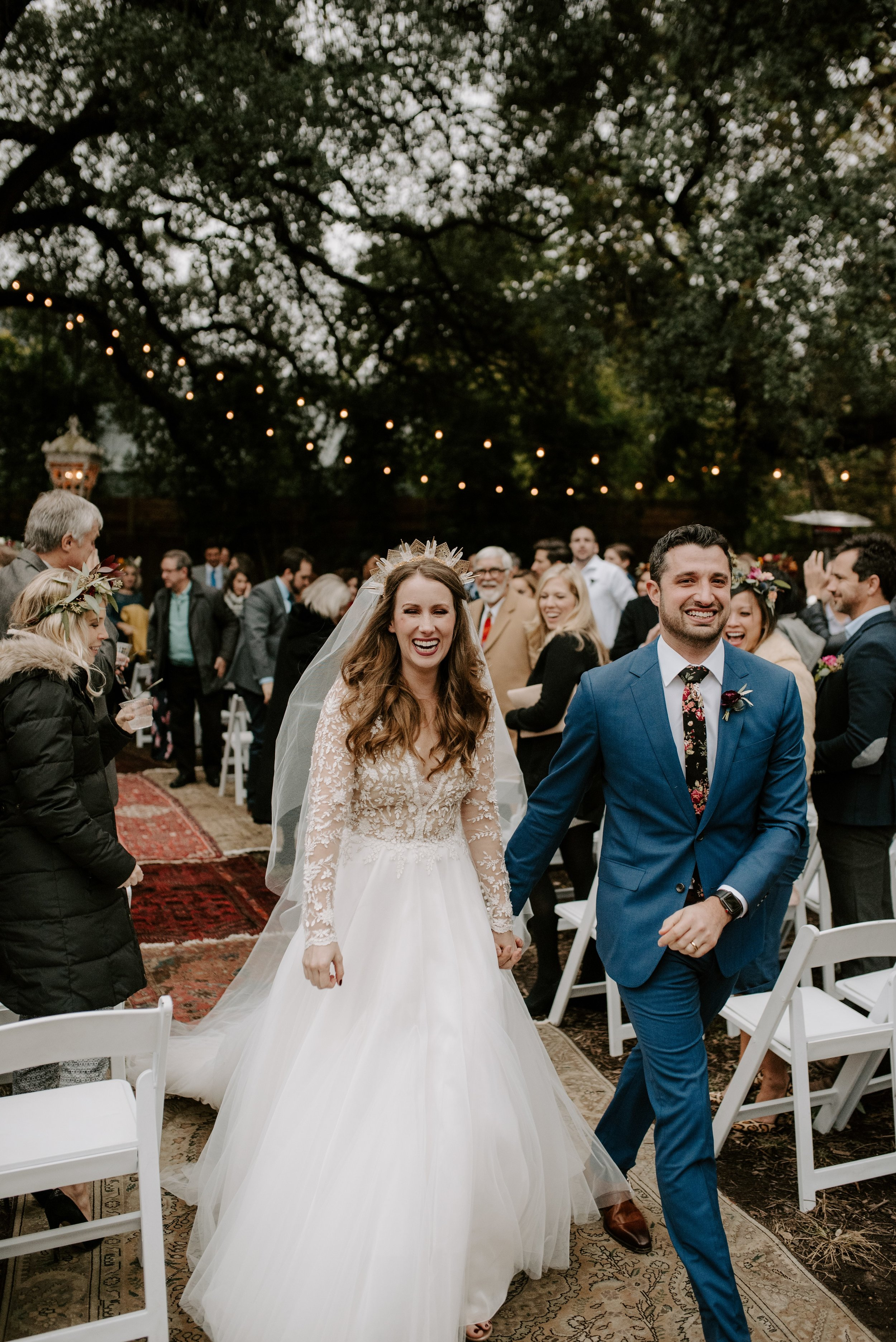Modern Backyard Wedding at Vuka Collective in Austin, TX // Candice and Aaron - Wedding