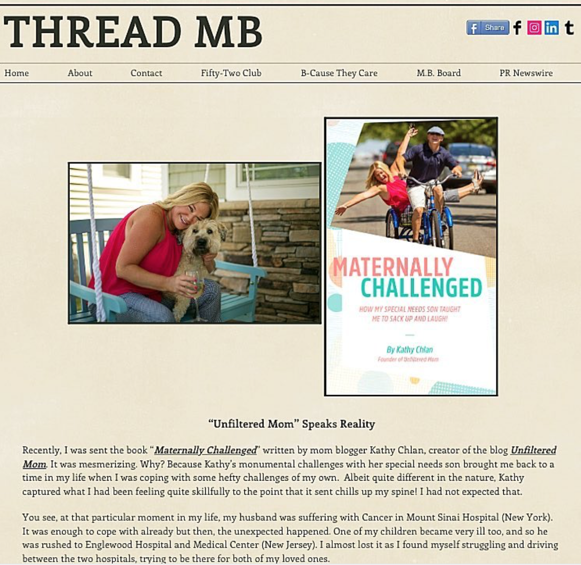 Thread MB - Interview for 'Maternally Challenged' Book