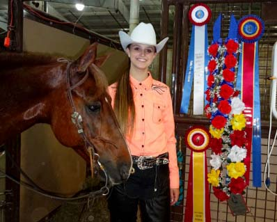 Brooke Ace and World Champion Reining Horse W's Mesquite Ridge