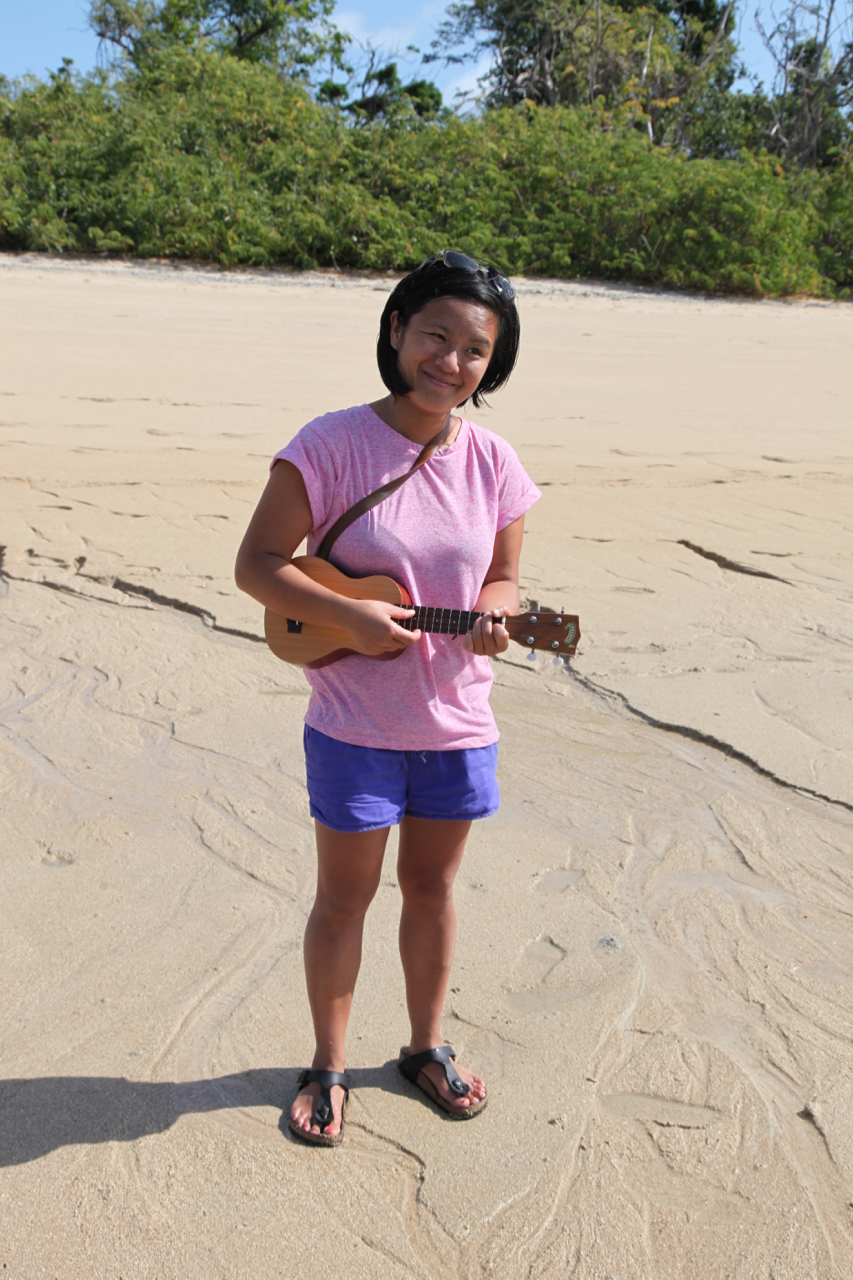 Michelle on Hope Island during our recent Hope Vale/Pelican project