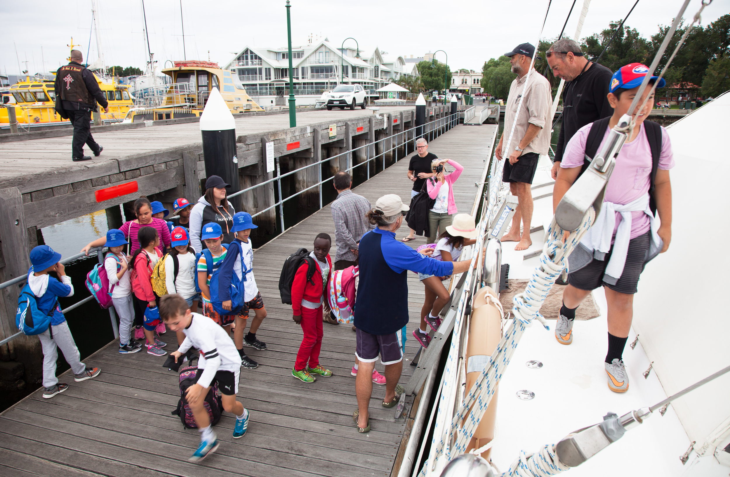 Year 4 students from Mother of God Primary step aboard Pelican1 for the marine education experience of a lifetime.
