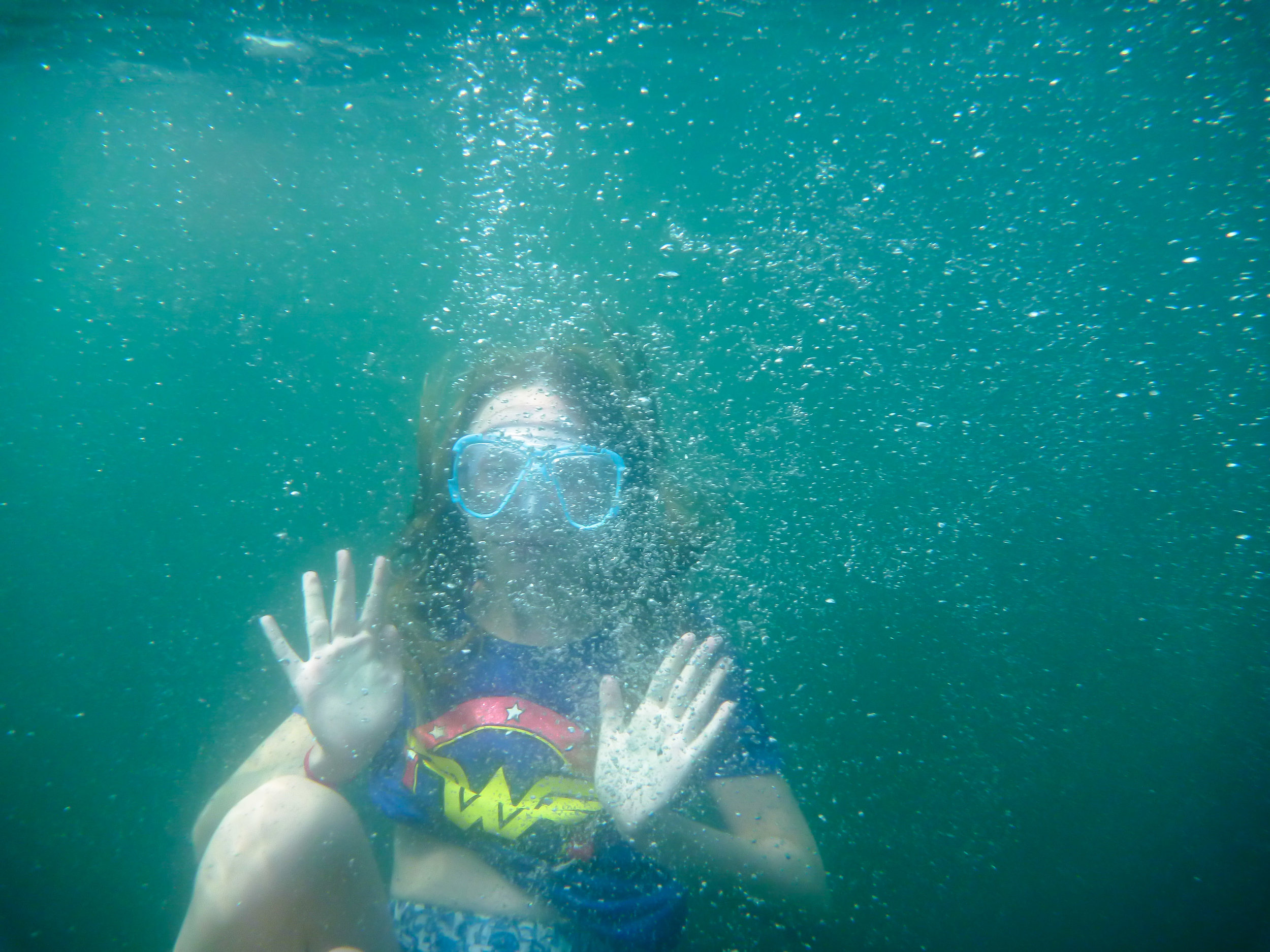 Many of the young people had a chance to get into the water and learn more about snorkelling.