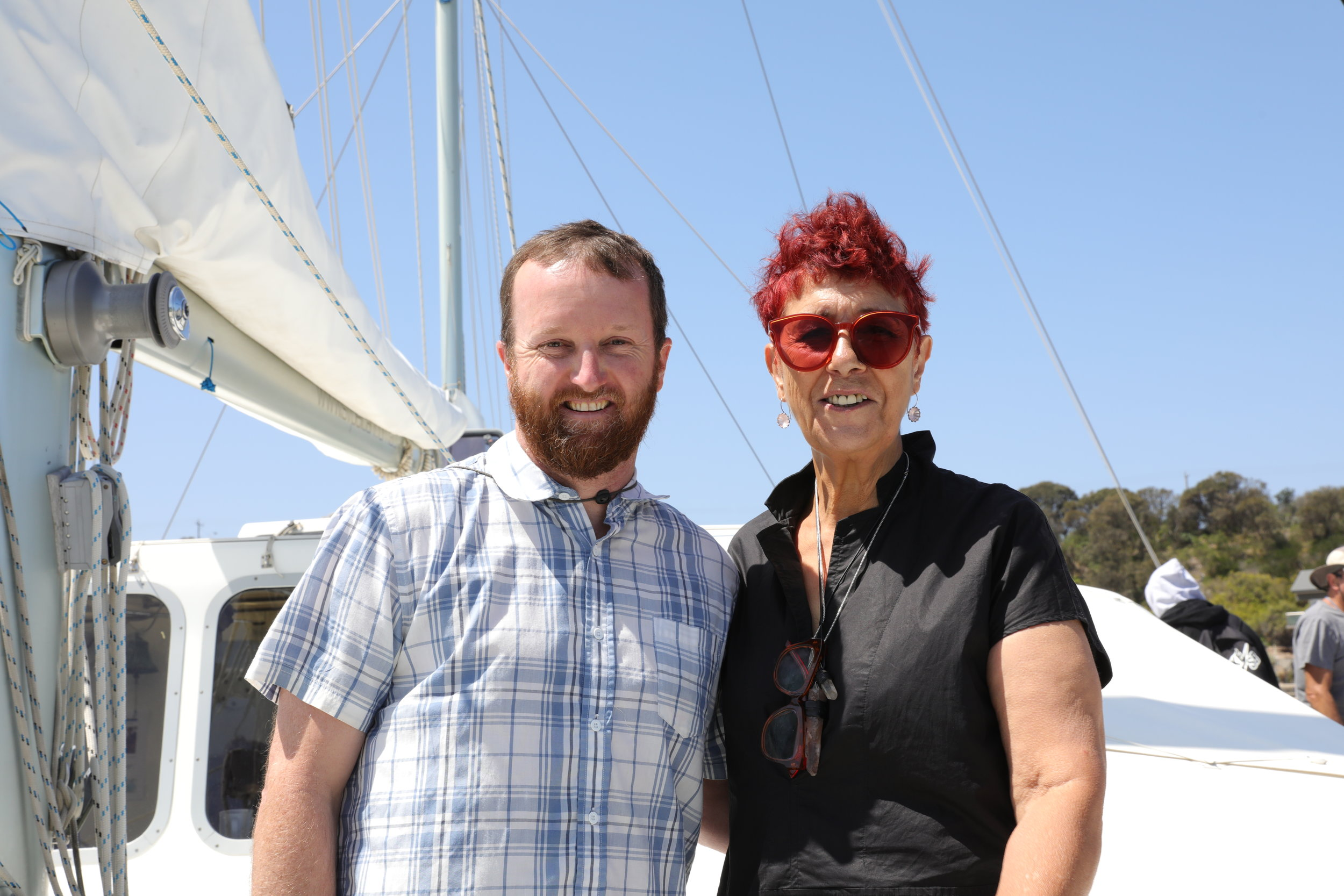 Simon Branigan from Nature Conservancy and Arweet Carolyn Briggs