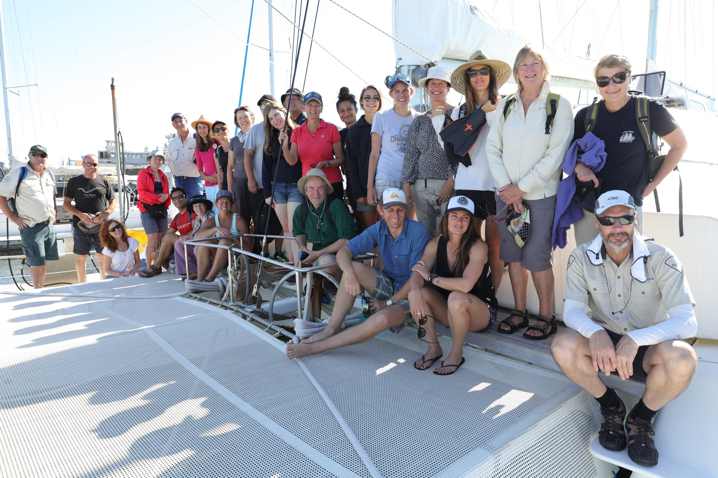 Citizen Science in action. Last year's group after a day out monitoring Mud Islands with Parks Victoria