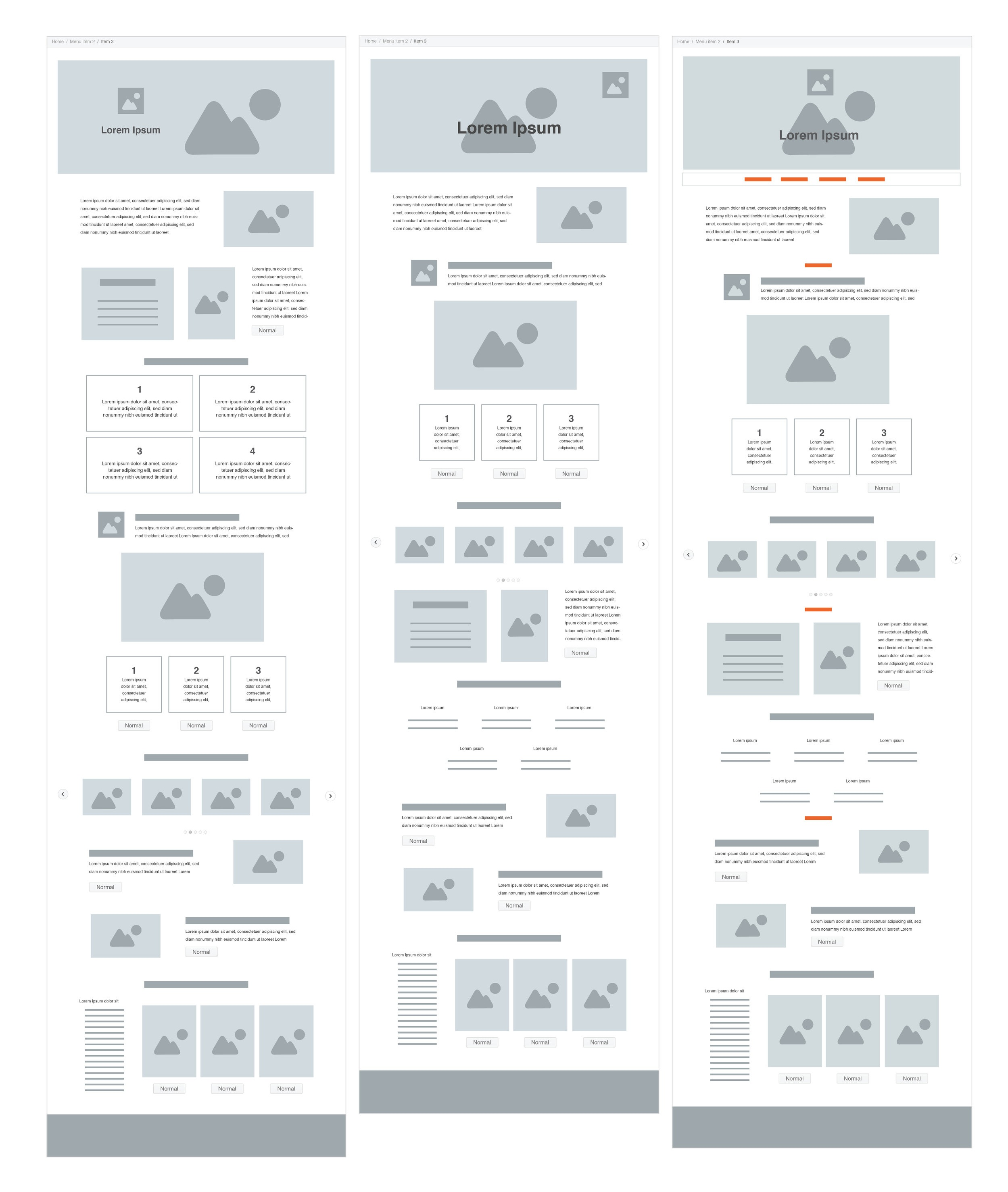 Many renditions of wireframes and designs were executed of the span of this project timeline. Eventually parts were removed and a secondary navigation was placed throughout the page for users to navigate to what they were most interested in quickly-the story or the product.