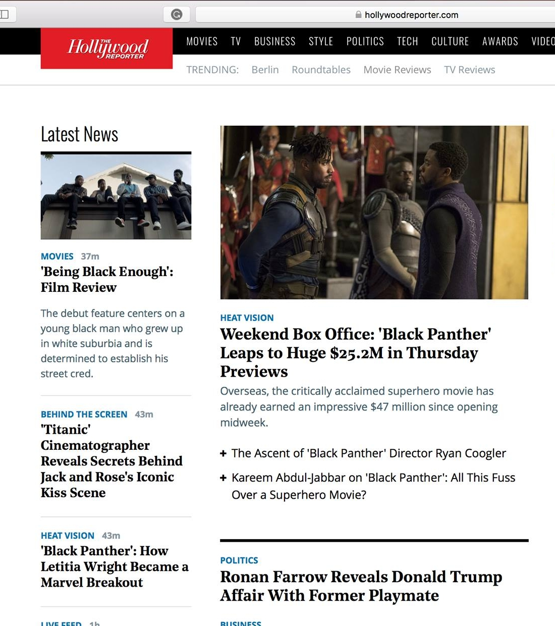 BEING BLACK ENOUGH on  The Hollywood Reporter homepage next to  Black Panther ! This film was my first ever feature film booking so it holds a very special place in my heart. It's truly amazing what  Devin and  Jacqueline have created, and I'm thankful to have been a part of this great project. BEING BLACK ENOUGH is now in theaters, available on iTunes and on the following platforms:  DirecTV Dish Network/Sling TV iN Demand - Comcast, Cox, Spectrum, etc. Vubiquity - Frontier, Verizon Fios, etc. Amazon Instant Video FandangoNow Google Play iTunes Sony PlayStation Swank - colleges, hospitals, prisons Vudu Xbox YouTube Movies