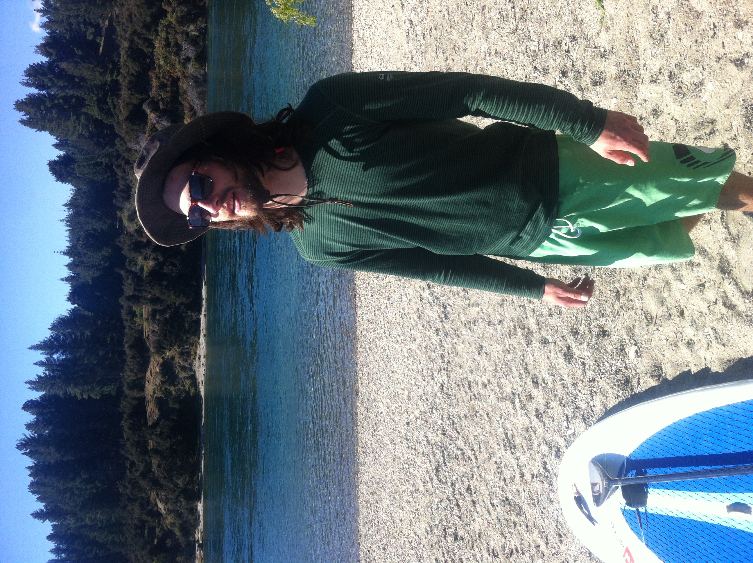 Getting ready to paddle for the first time. You know its adventure time when the Icebreaker Oasis long Sleeve comes out!