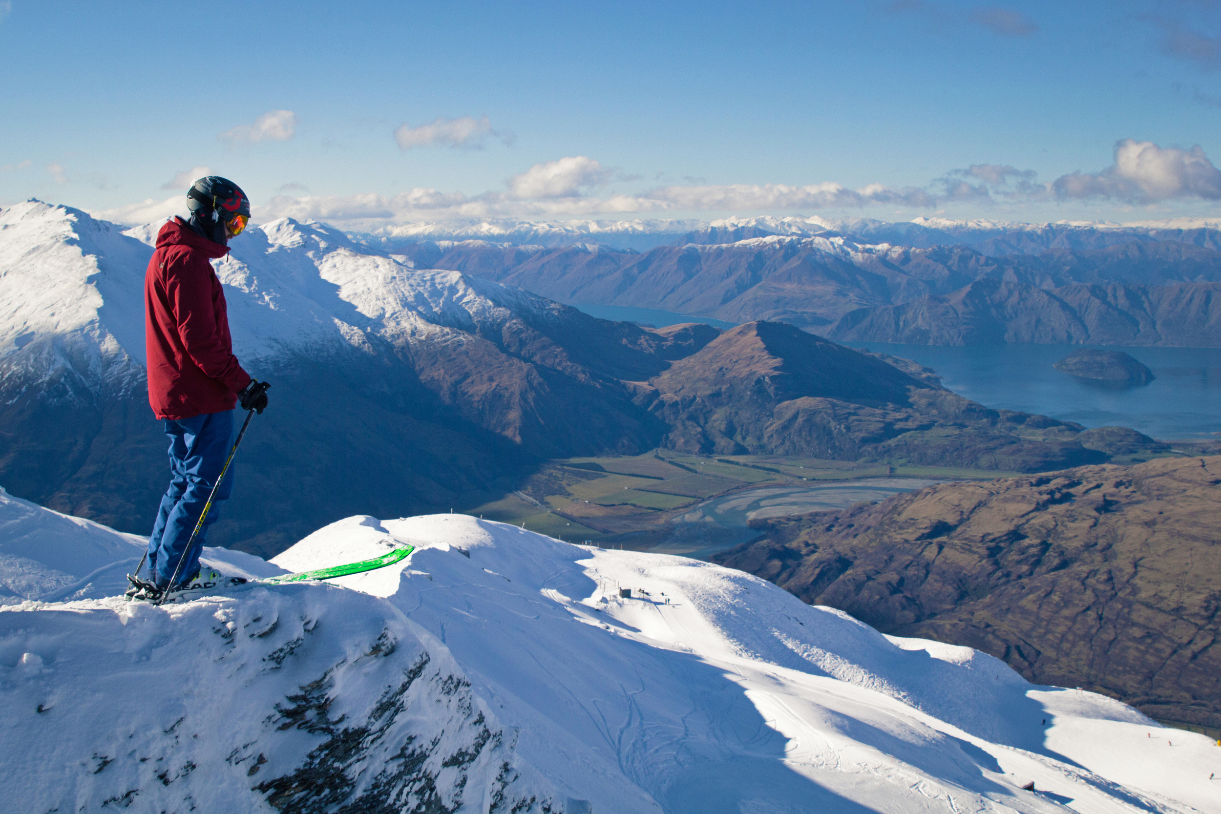 Treble Cone Looking out on lake Wanaka. Photo by Hugo Peckham https://www.facebook.com/hugopeckhamphotography/?fref=ts