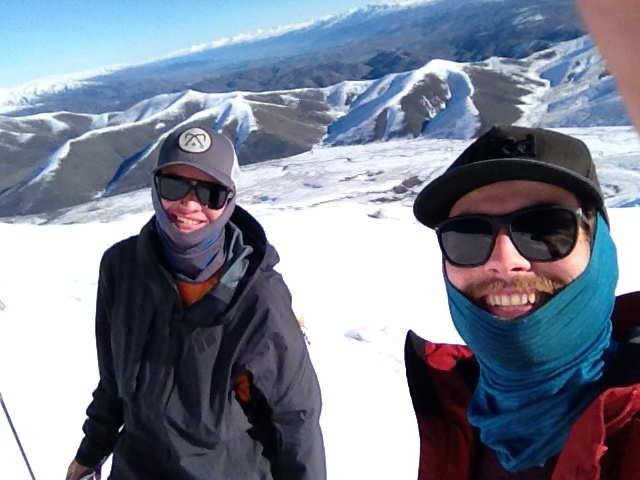 Scott and I hanging out half way up St Bathans range.