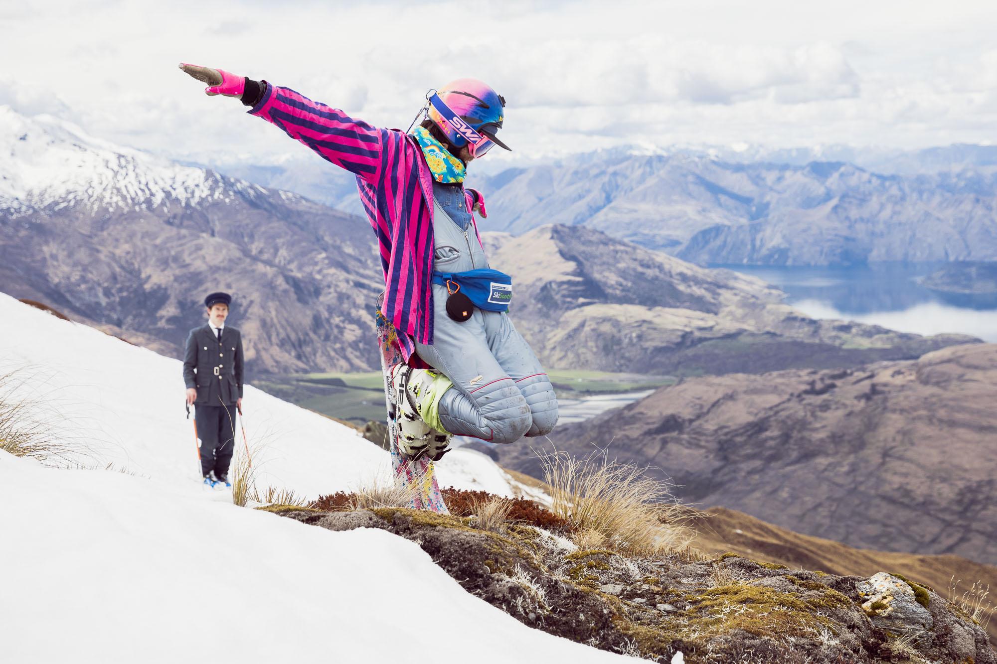 The reason I ski?              Because its fun of course!                                                           Photo - Mark Clinton