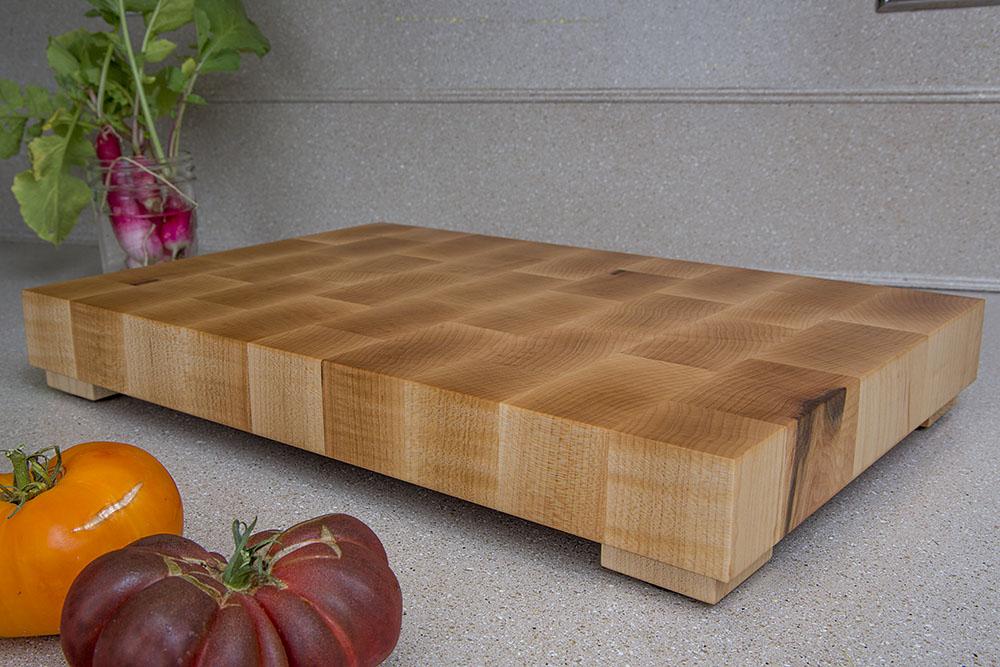 hard maple wood butcher block cutting board portland oregon handmade