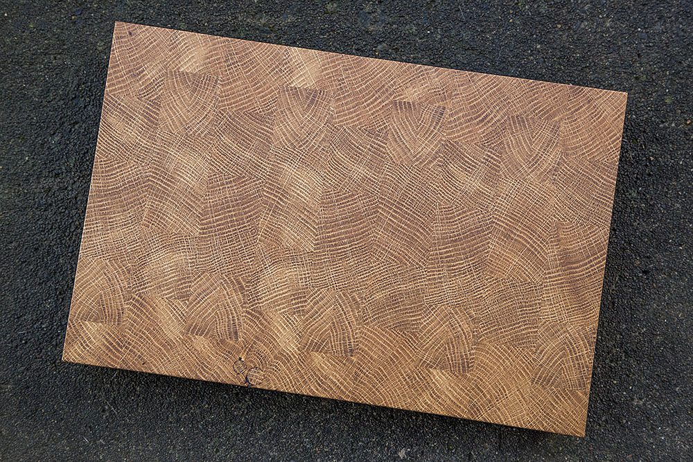 white oak end grain butcher block cutting board wood wooden portland oregon handmade