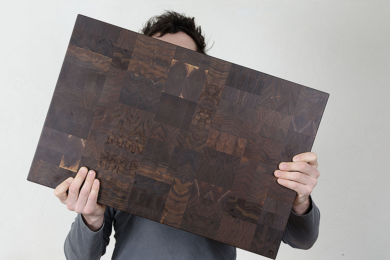 extra large end grain butcher block cutting board oregon claro walnut