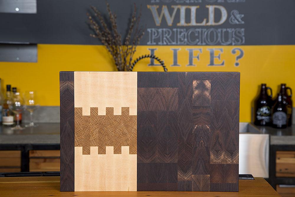 wood wooden end grain butcher block handmade pacific northwest
