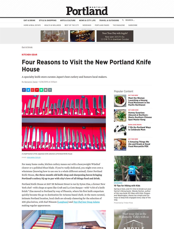 Portland Monthly Magazine - 2015