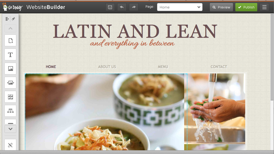 I used goDaddys website builder ($1/month) to create a simple site for Latin and Lean but it was difficult to work with. It was slow to respond, it would freeze to the point of not being able to get anything done.