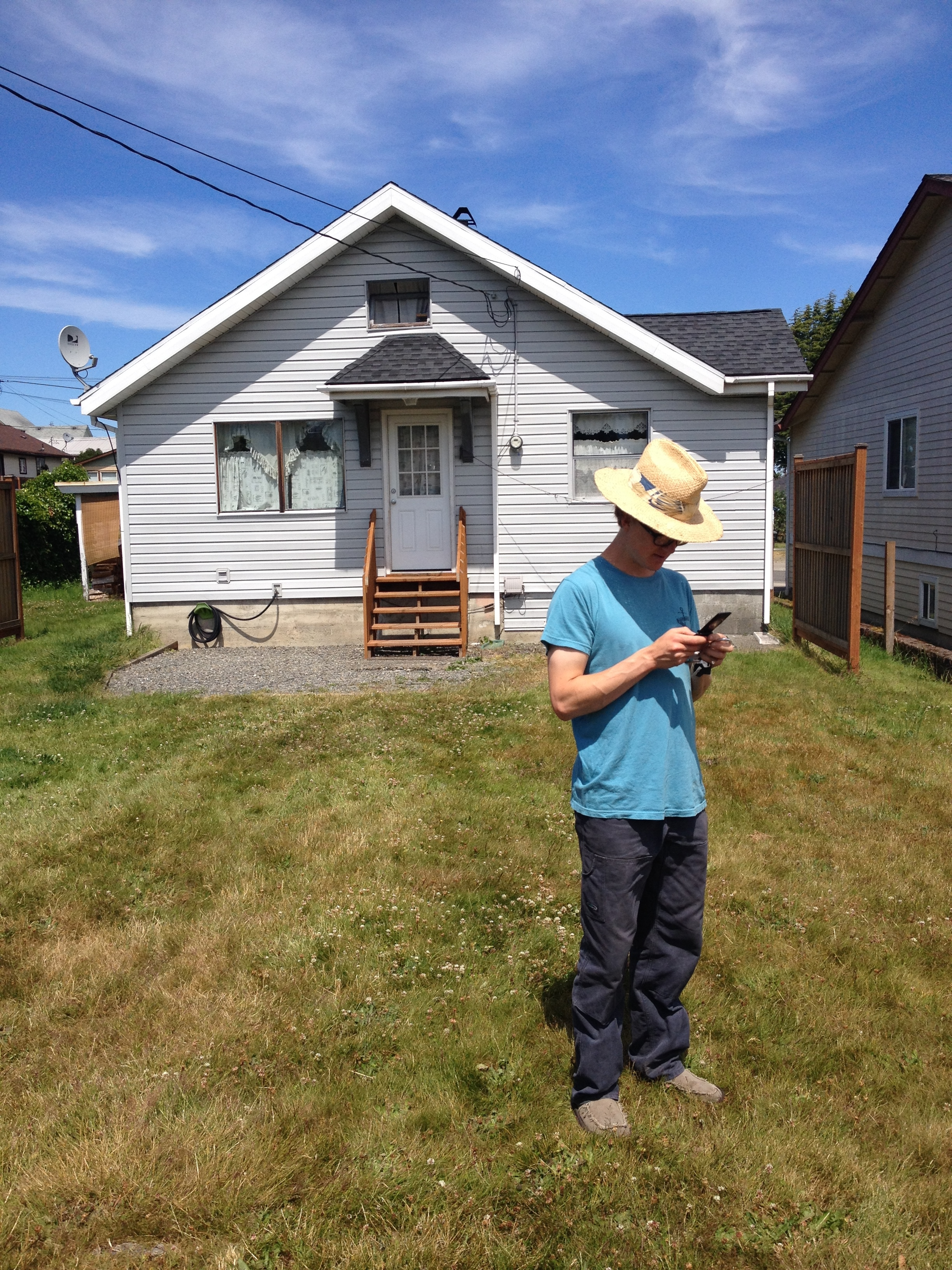 Nick in his backyard in Port Angeles, where he works with the Washington Conservation Corp (WCC). He's also there for the great surf.....