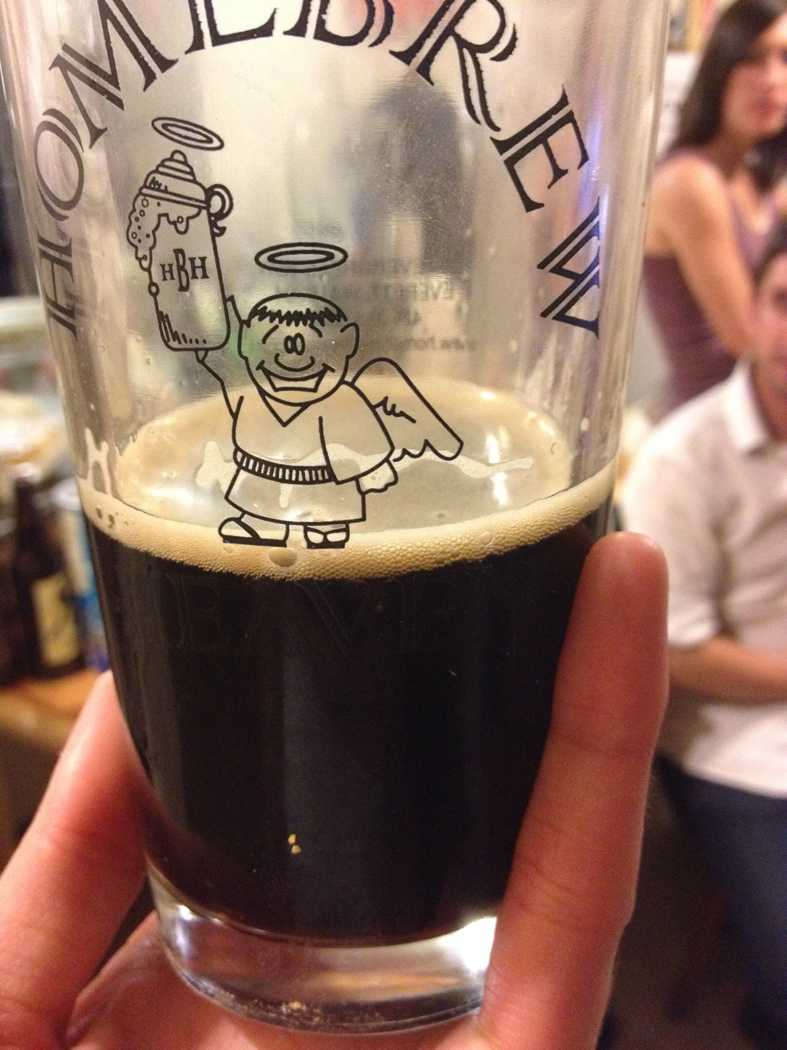 Robert's home brew, just one of his amazing stouts. The best stout I've ever had.