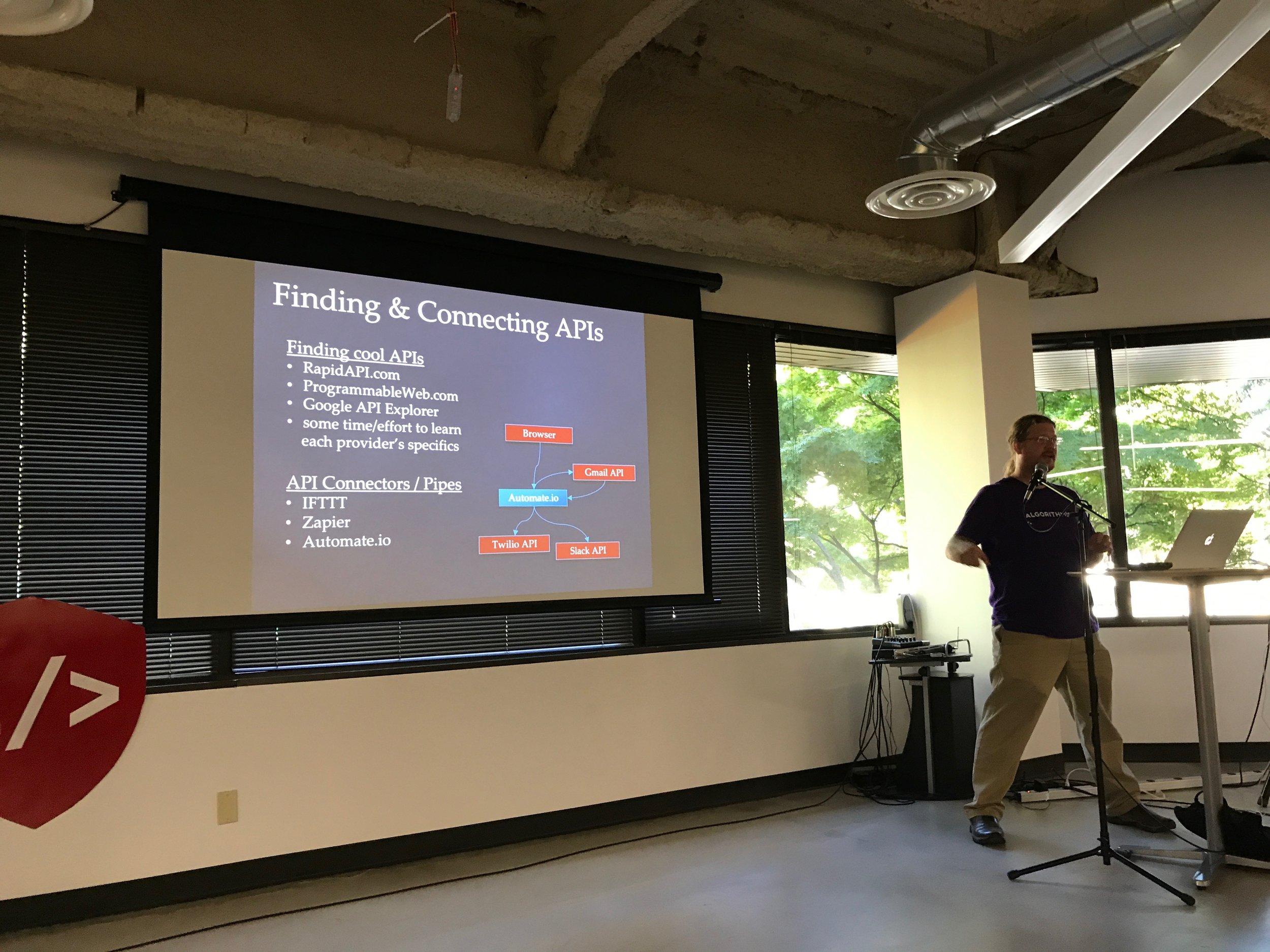 September 1- Jon Peck from  Algorithmia .