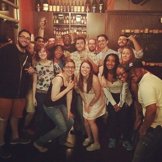 ONLY A FRACTION OF THE DALLAS TEAM. Miss these people everyday!!!! Naylor going away party!