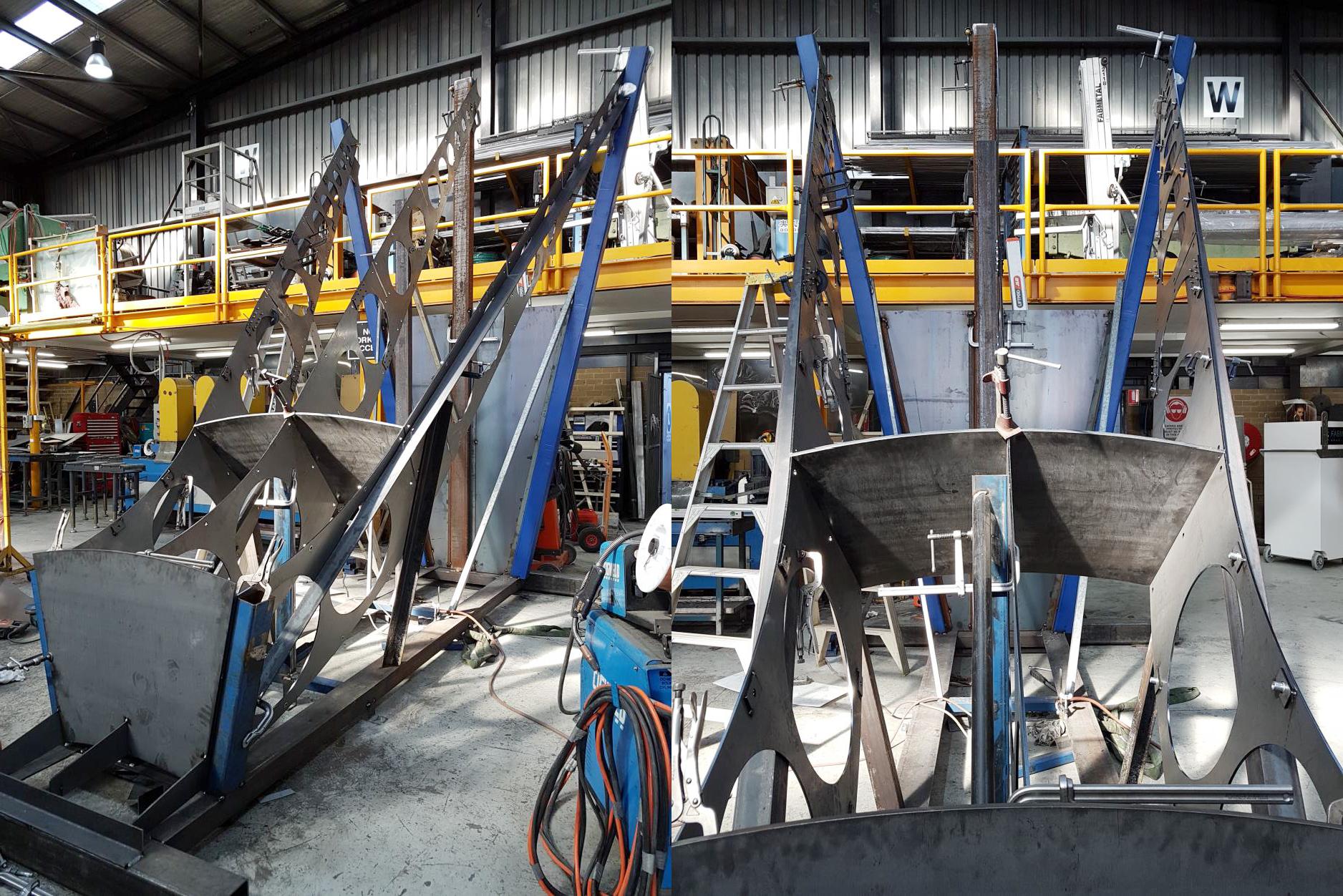 B17 Funnel  fabrication underway