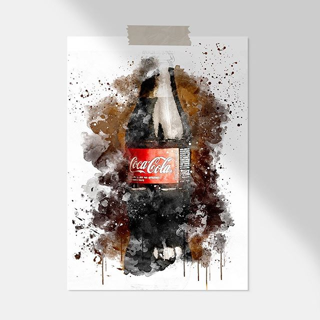 - Coca Cola 📸 Send us your digital photos and we will turn them into a digital watercolour painting. We will then send your custom artwork via email as a JPEG for you to use wherever you like!  Visit our website for more info www.houseofsomer.co.nz