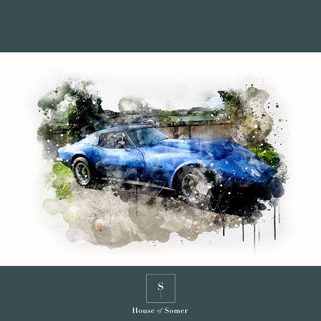 - C3 Corvette Stingray House of Somer creates custom digital watercolour paintings directly from your photos! 📸 Send us your digital photos and we will turn them into a digital watercolour painting. We will then send your custom artwork via email as a JPEG for you to use wherever you like! * Visit our website for more info. - - - - #art #watercolor #watercolour #giftideas #digitalpaintings #painting #giftsforher #giftsforhim #wedding #weddinggift #happilyeverafter #artworkforsale #artworkcommission #madeforyou #artonline #watercolourart #interiordesign #interiorstylingideas #artprints #corvette #corvettestingray #sportscars #classiccars #c3corvette #stingraycorvette