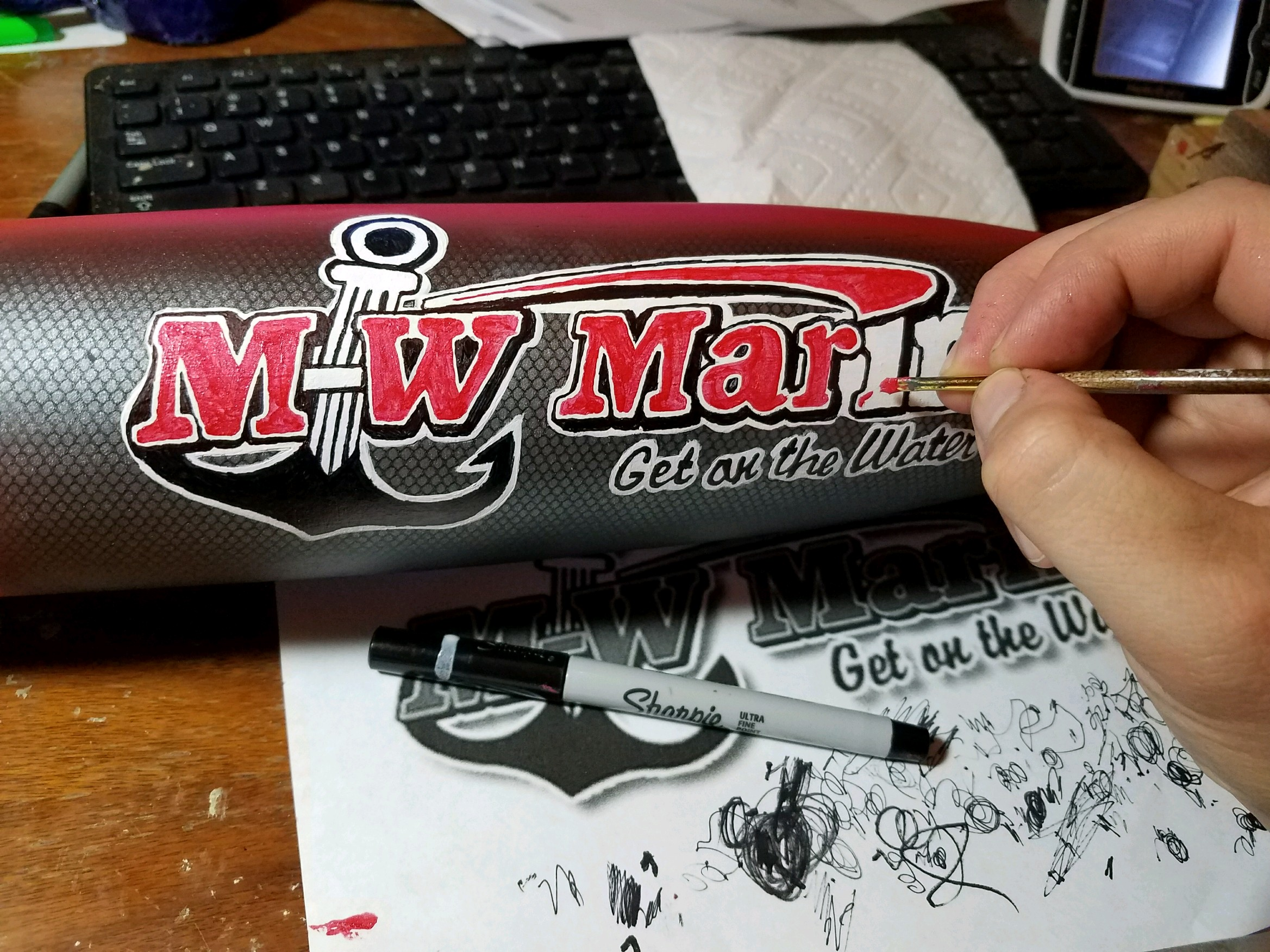 XXL Display Lure: M-W Marine (In Progress)