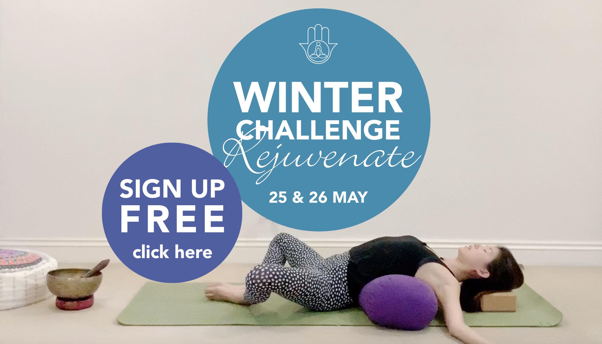 Winter yoga challenge