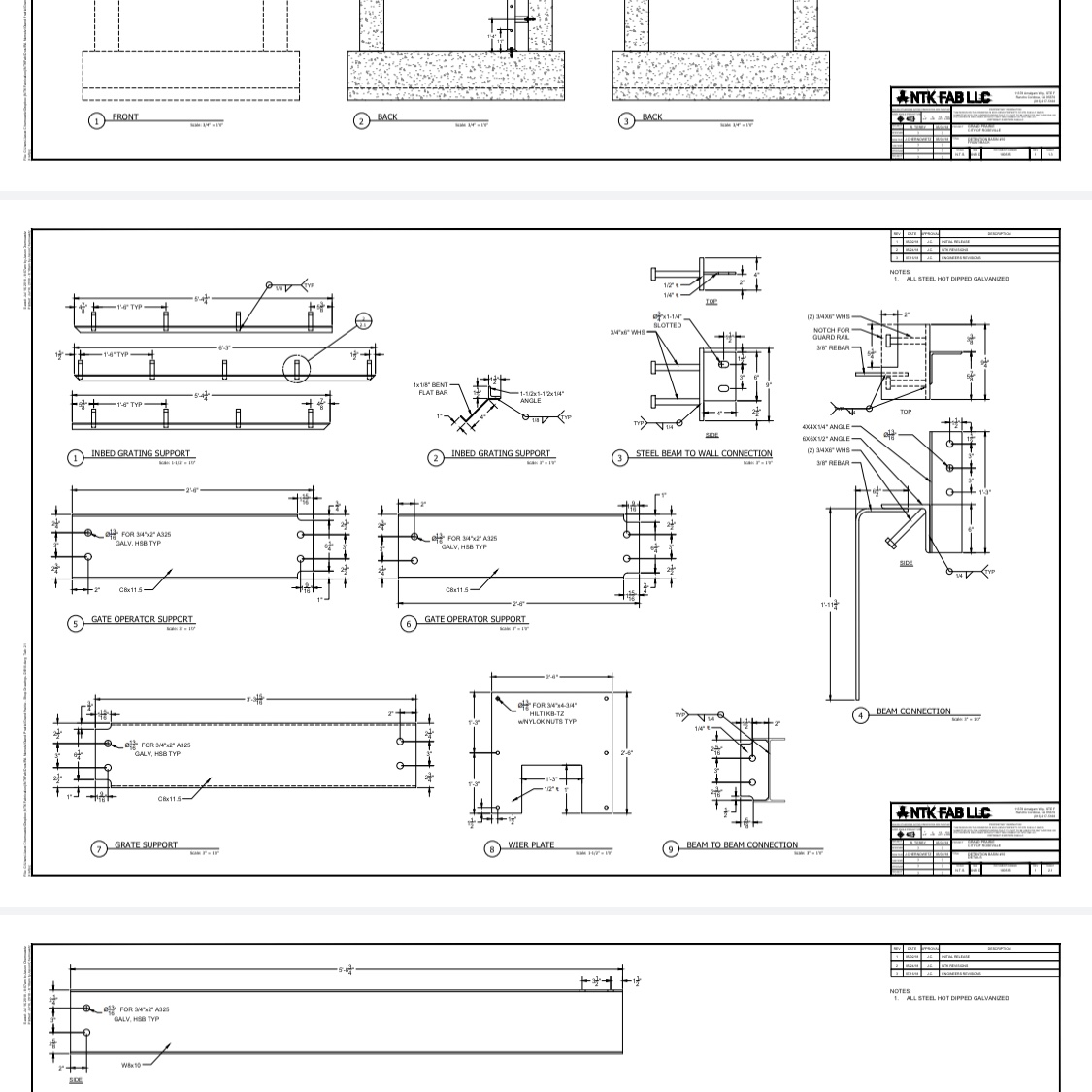 Shop Drawings for Folsom Ranch Hydromodification Basins.