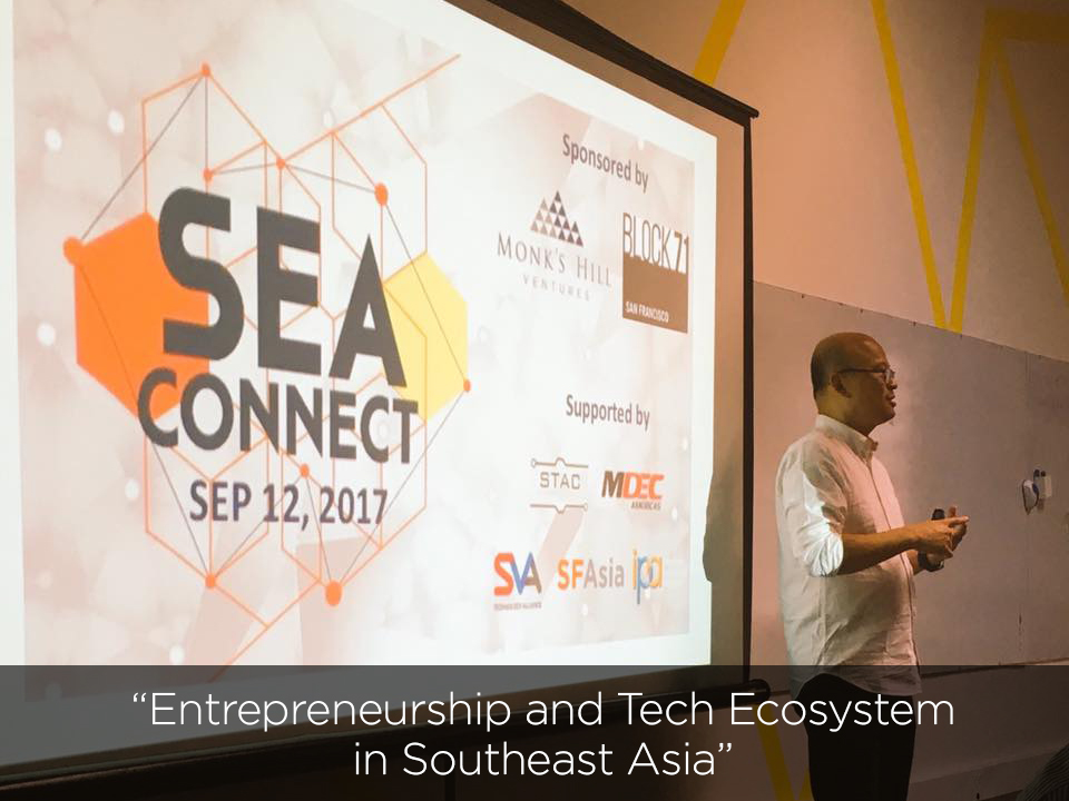 SEA Connect September 12, 2017 @ Block71 San Francisco  with Aldo Carrascoso (Veem) and Darren Hsieh (Skycatch)