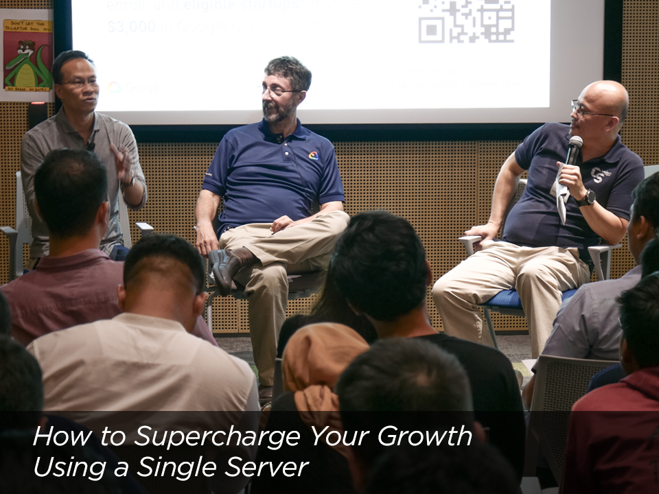 Startup Workshop: How to Supercharge Your Growth Using A Single Server  in Jakarta with Randy Jusuf & Jerome Poudevigne of Google