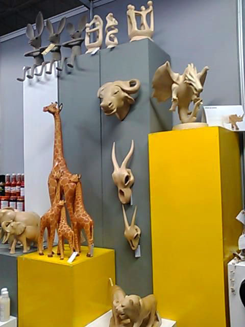 Products from Pius & Sons and Sphoko Design at the SWIFT Craft + Create stand.
