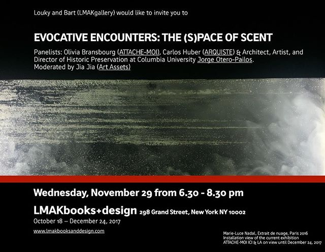 The (S)pace of Scent. Panel discussion this Wednesday in NY. Essential rsvp@lmakgallery.com a great weekend to all in the meanwhile... #scent #art #space #architecture #preservationofscent #parfums