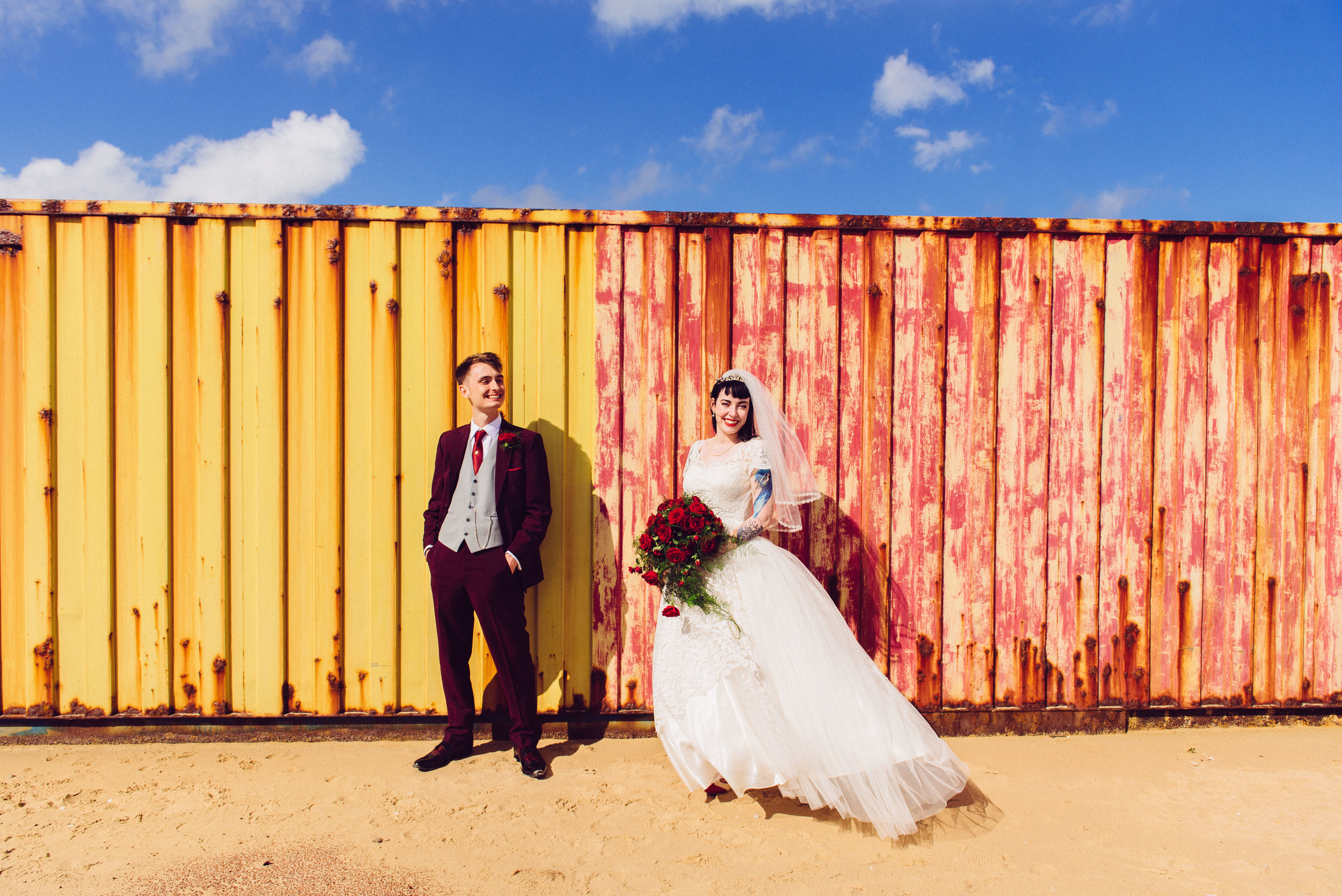 A very vibrant tattooed wedding in Norfolk - Sophie + Kyle