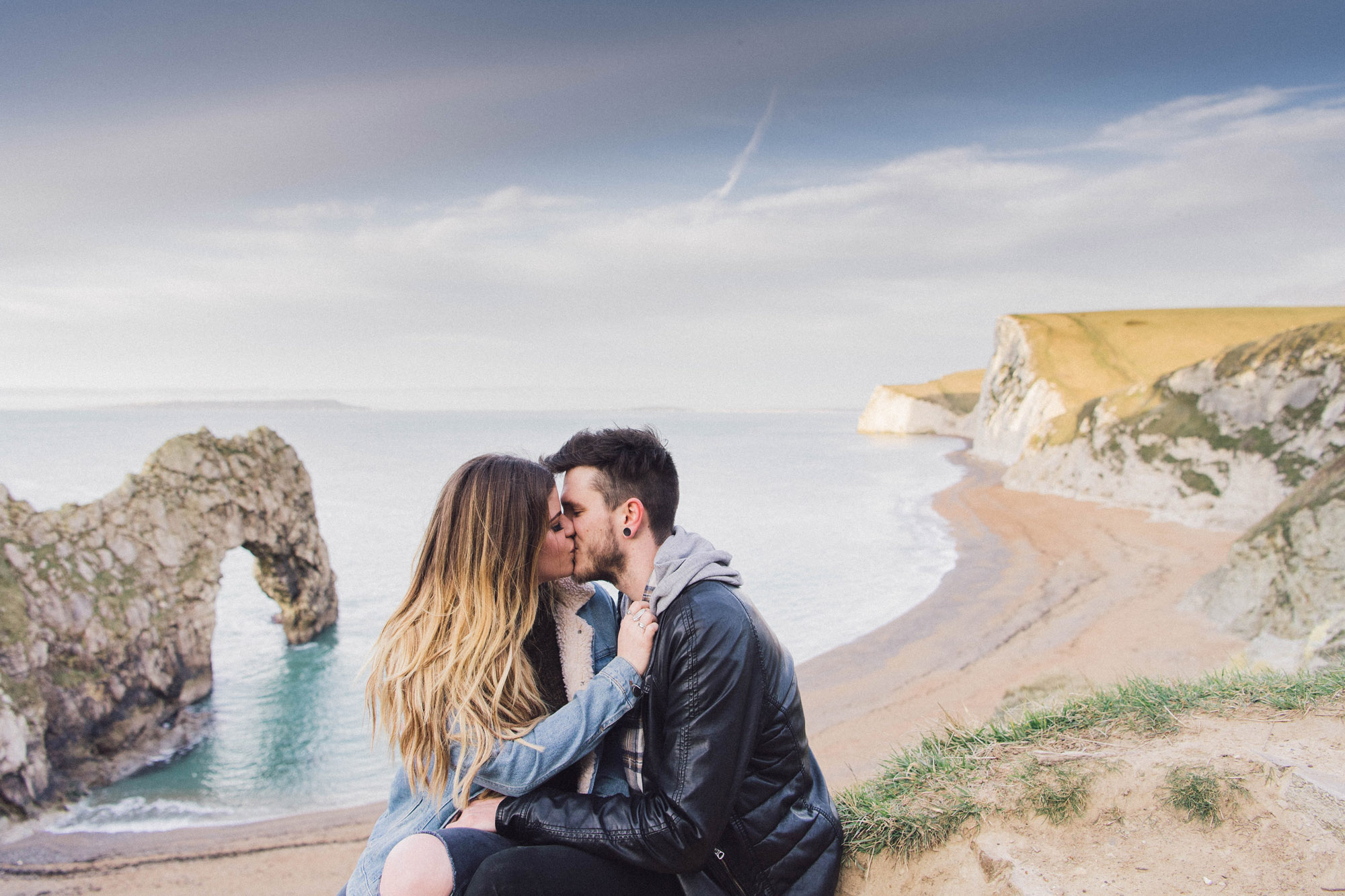 A Spring sunrise pre-wedding shoot in Dorset - Lucy and Ali