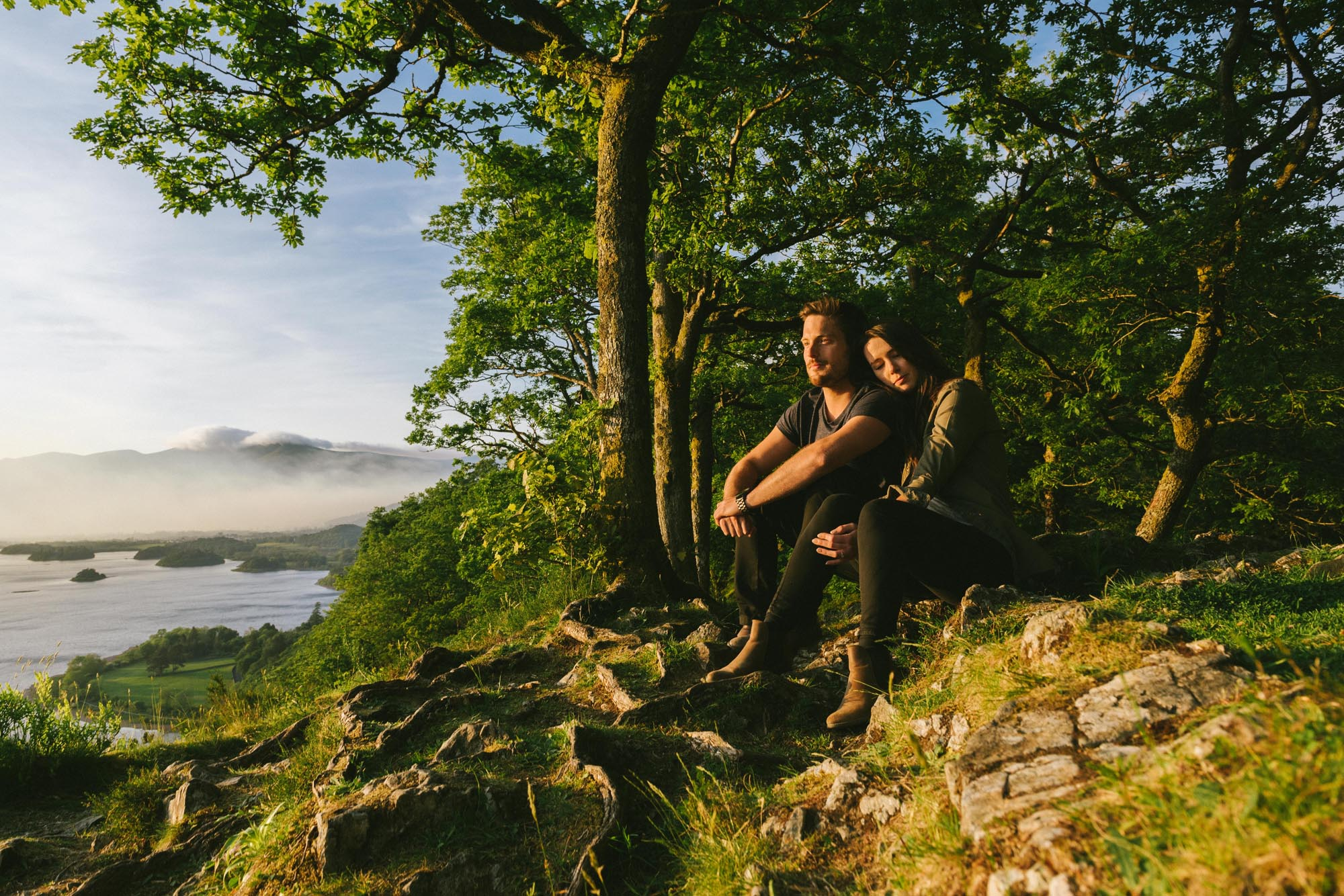 A summer pre-wedding shoot in the Lake District - Kayleigh and Bernie