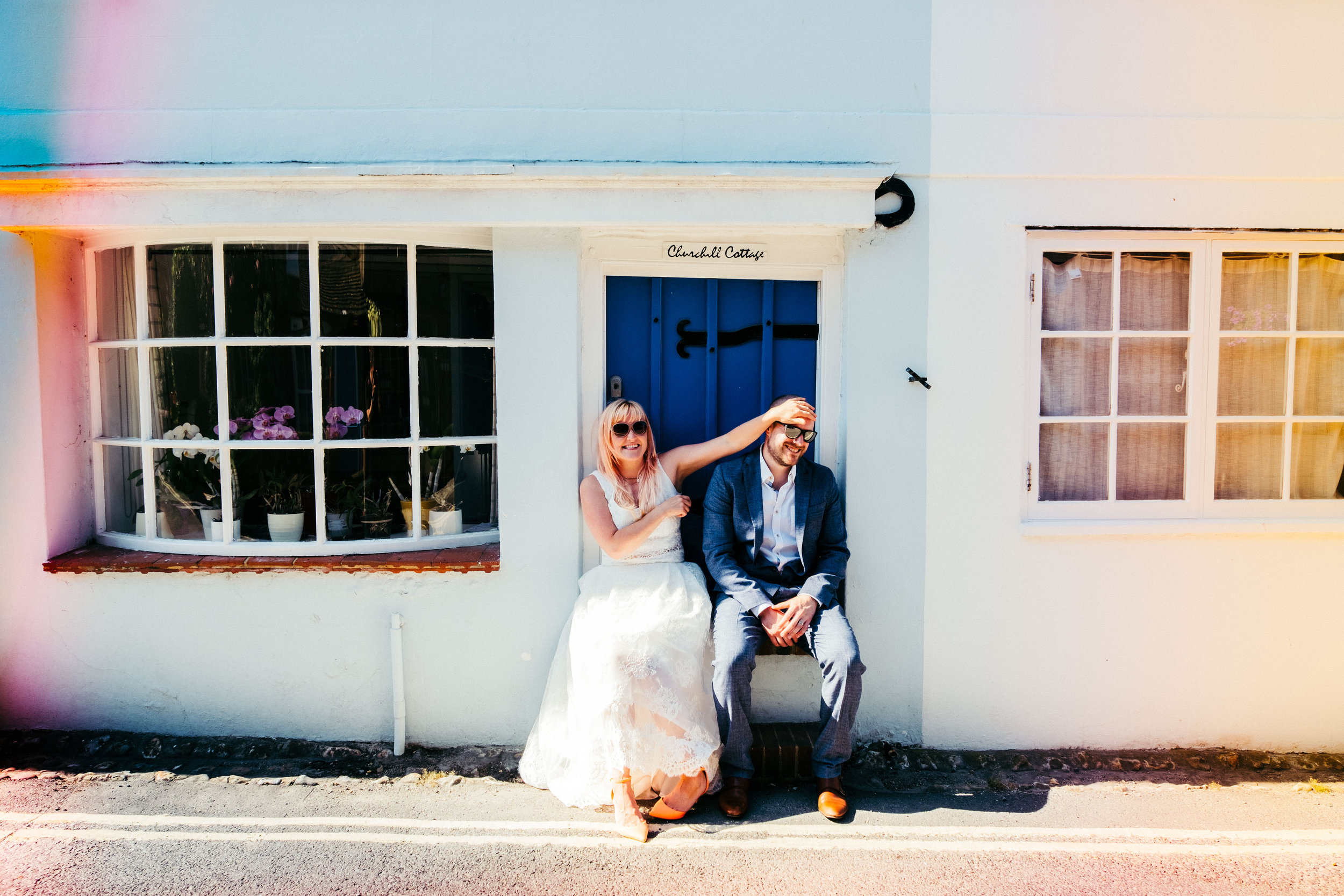 Back garden wedding photography in West Sussex - Lucy and Chris