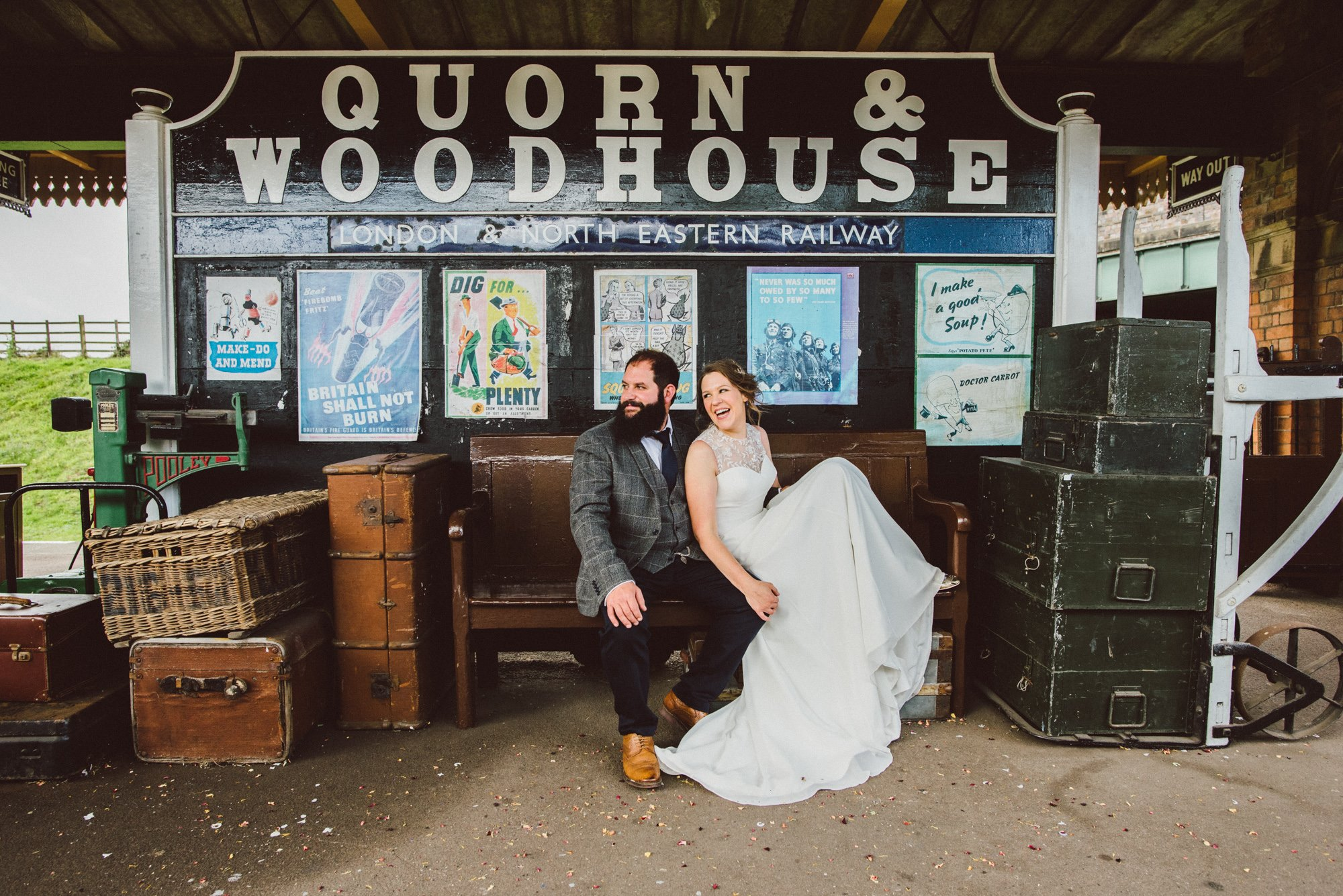 Steam train wedding at the Great Central Railway - Sadie and Rich