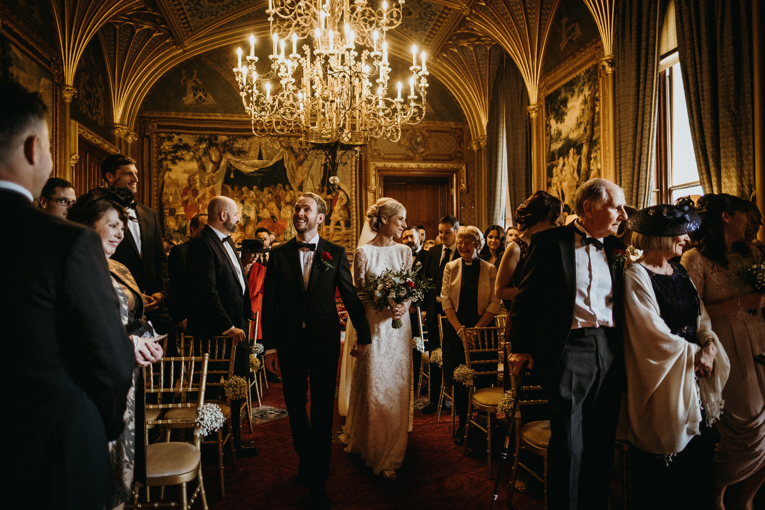 Eastnor Castle winter wedding - Lucy and James