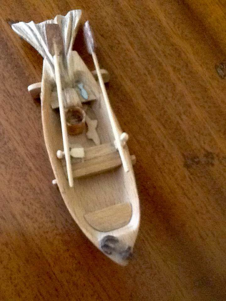 A boat made by Chloe's Uncle.