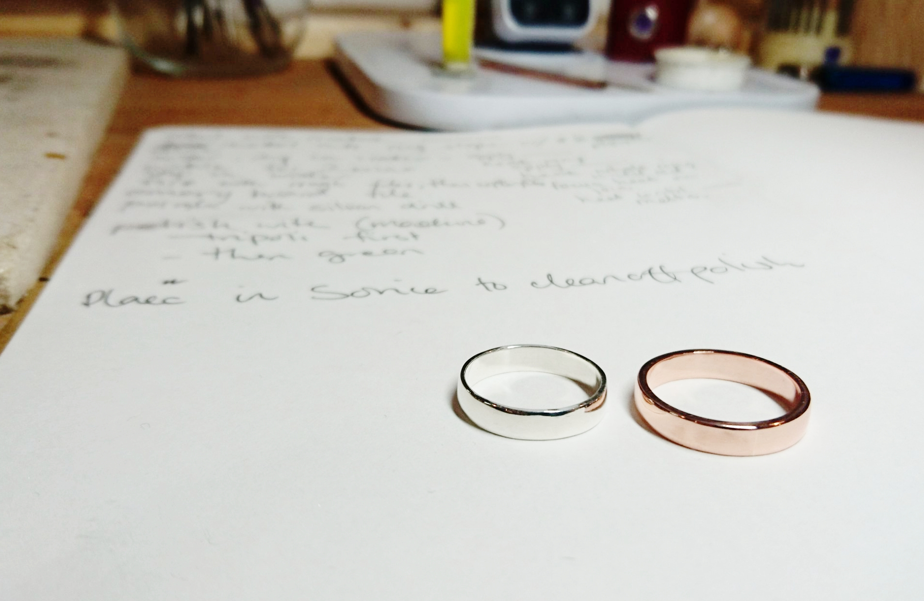 Ring making from the first 2 days at VI.