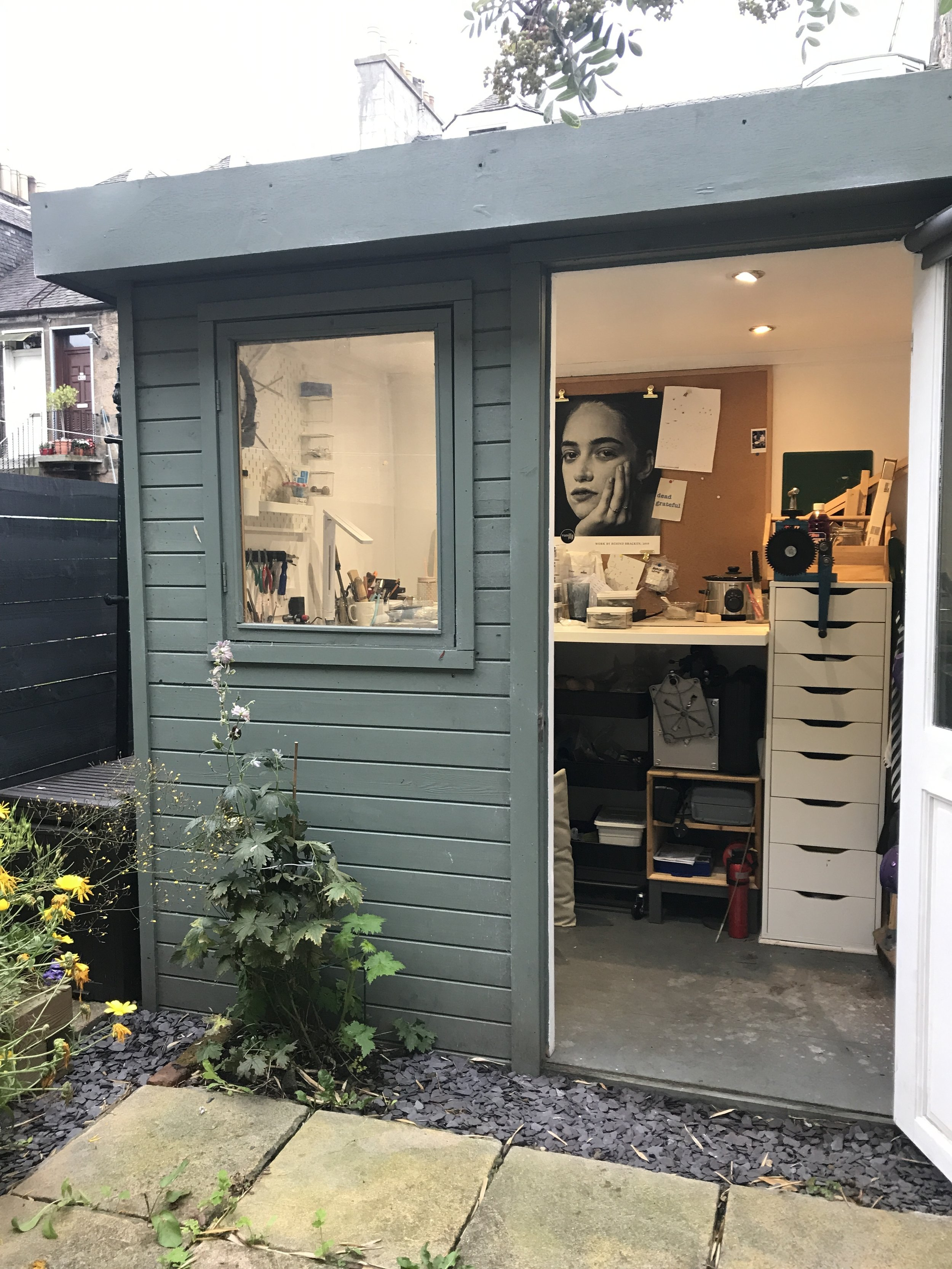 Ashley's home studio - living the shed dream!