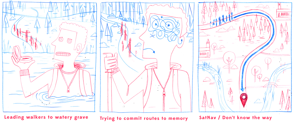 The rough sketches, including the chosen concept.