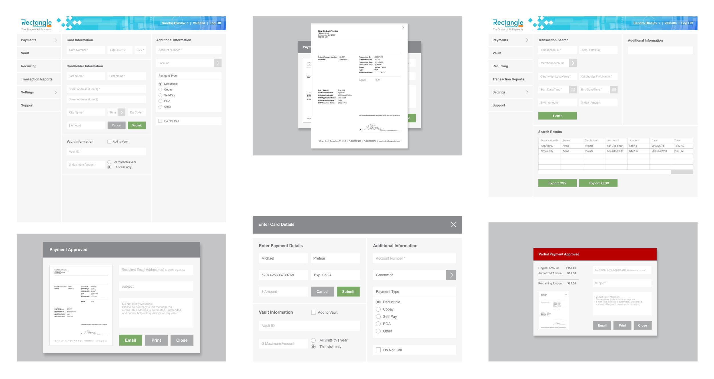 Rectangle Health UI Design